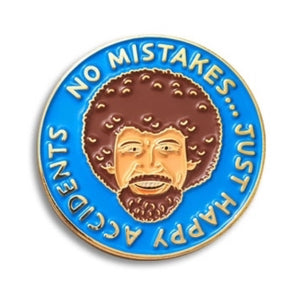 Enamel Pin : The Found - No Mistakes Pin (Blue) - MeMe Antenna