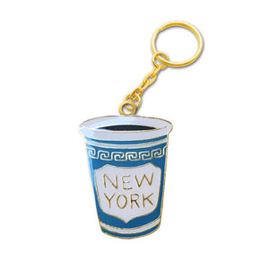 Key Chain - New York Coffee Cup - MeMe Antenna