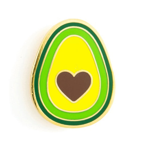 Enamel Pin : These Are Things - Avocado Heart - MeMe Antenna