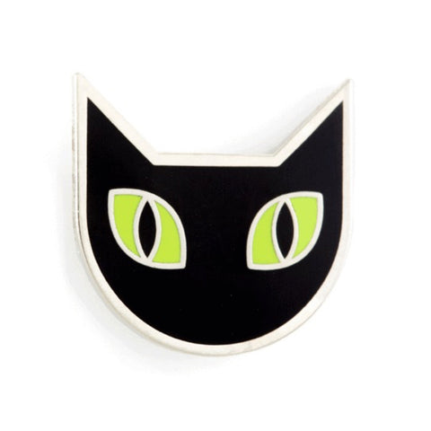 Enamel Pin : These Are Things - Black Cat - MeMe Antenna