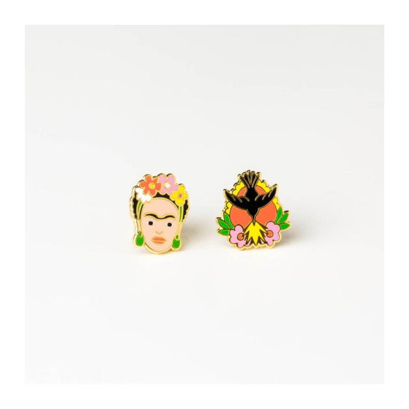 Earrings : Frida Kahlo - MeMe Antenna