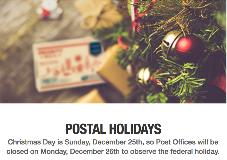 Shipping Deadlines for Holiday 2016