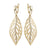 "18 K YG Plated Brass ""Velvet Peak"" Clear CZ Earrings"