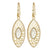 "18K YG Plated ""Labyrinth Allure"" Clear CZ Earrings"