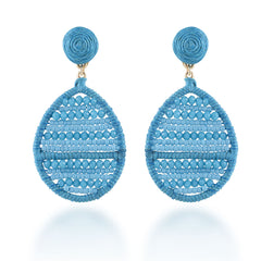 """Jardine"" Handmade Woven Crystal Beads Teardrop Earrings - More Colors"
