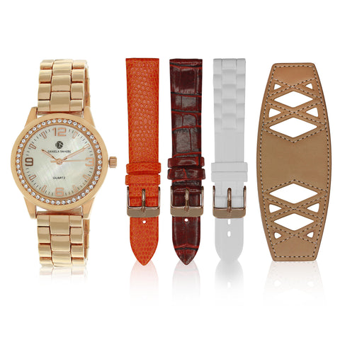 """Runway Watch"" Set Rose Gold Tone"