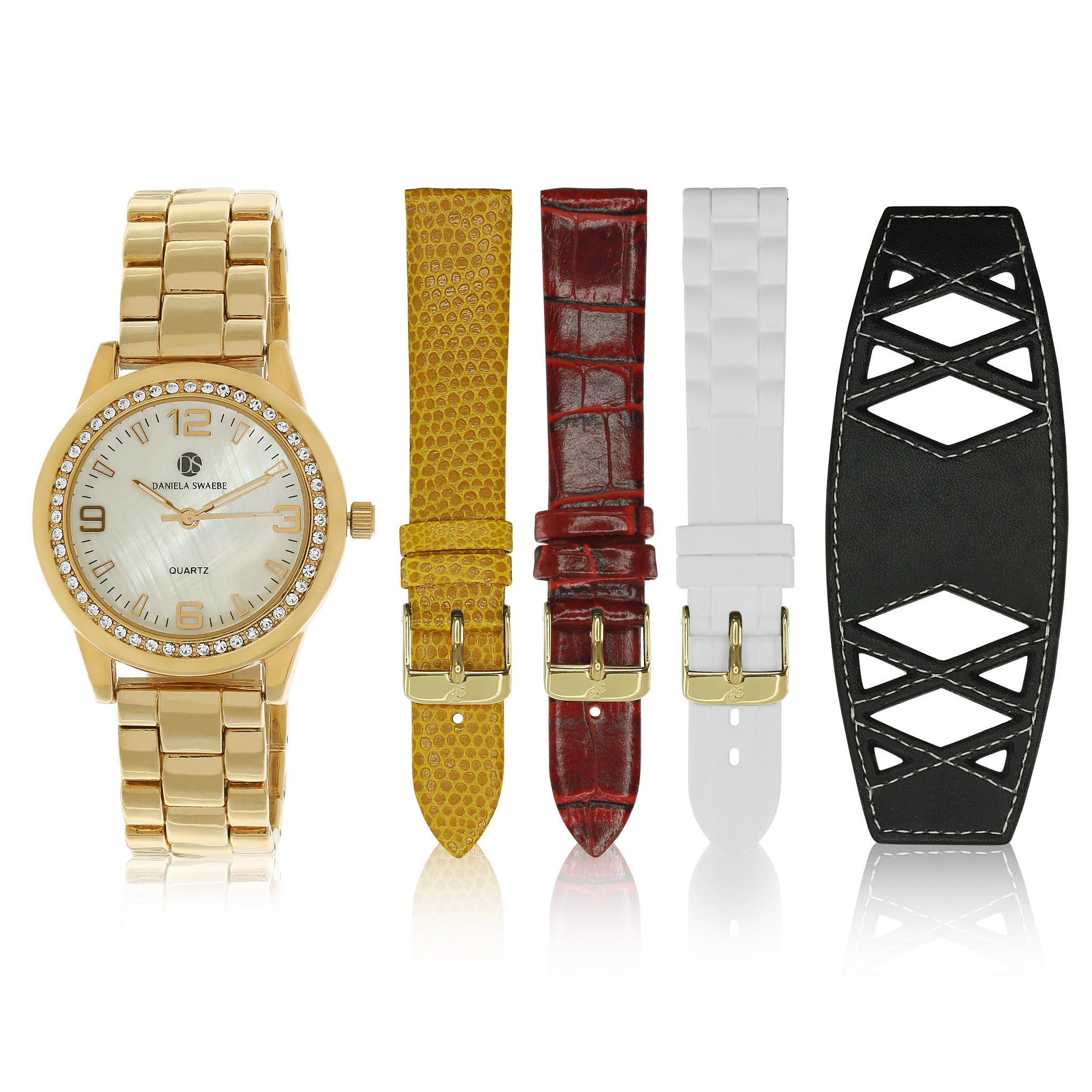 """Runway Watch"" set, Yellow Gold Tone"