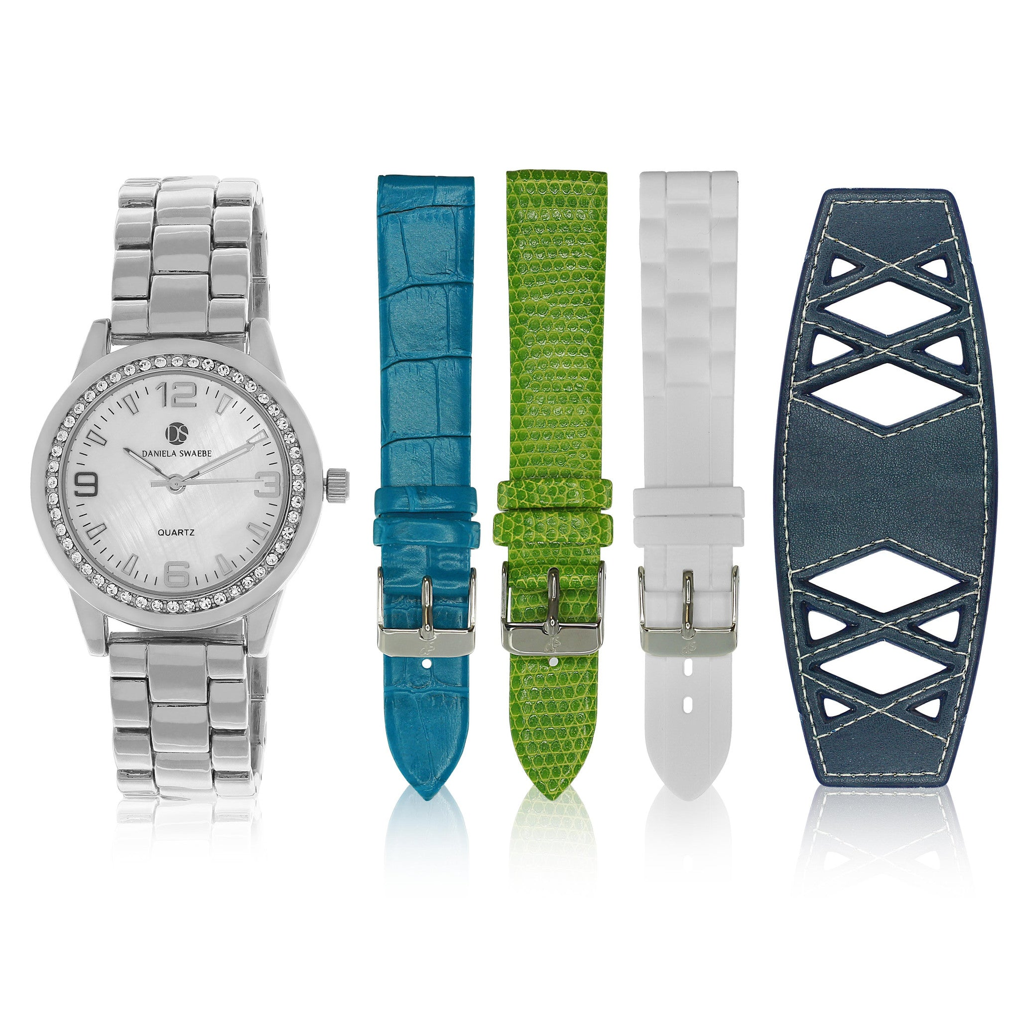 """Runway Watch"" set, Silver Tone"