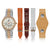 """Dani Watch"" Set, Two-Tone Rose Gold and Silver"