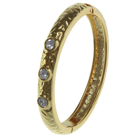 """District of Lights"" Classic Style Crystal Accents Hinge Bangle"