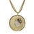 "18K YG Plated ""Aquarius Zodiac"" White CZ Pendant Necklace"