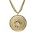 "18K YG Plated ""Capricorn Zodiac"" White CZ Pendant Necklace"