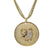 "18K YG Plated ""Taurus Zodiac"" White CZ Pendant Necklace"