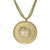 "18K YG Plated ""Aries Zodiac"" White CZ Pendant Necklace"