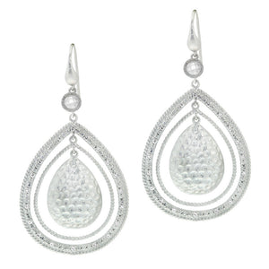 Rhodium Plated, Exotic Cz Earrings More Colors