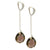 Glam Smokey Quartz Sterling Silver Drop Earrings