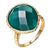 """Delicate"" Faceted Green Onyx Drop Ring"