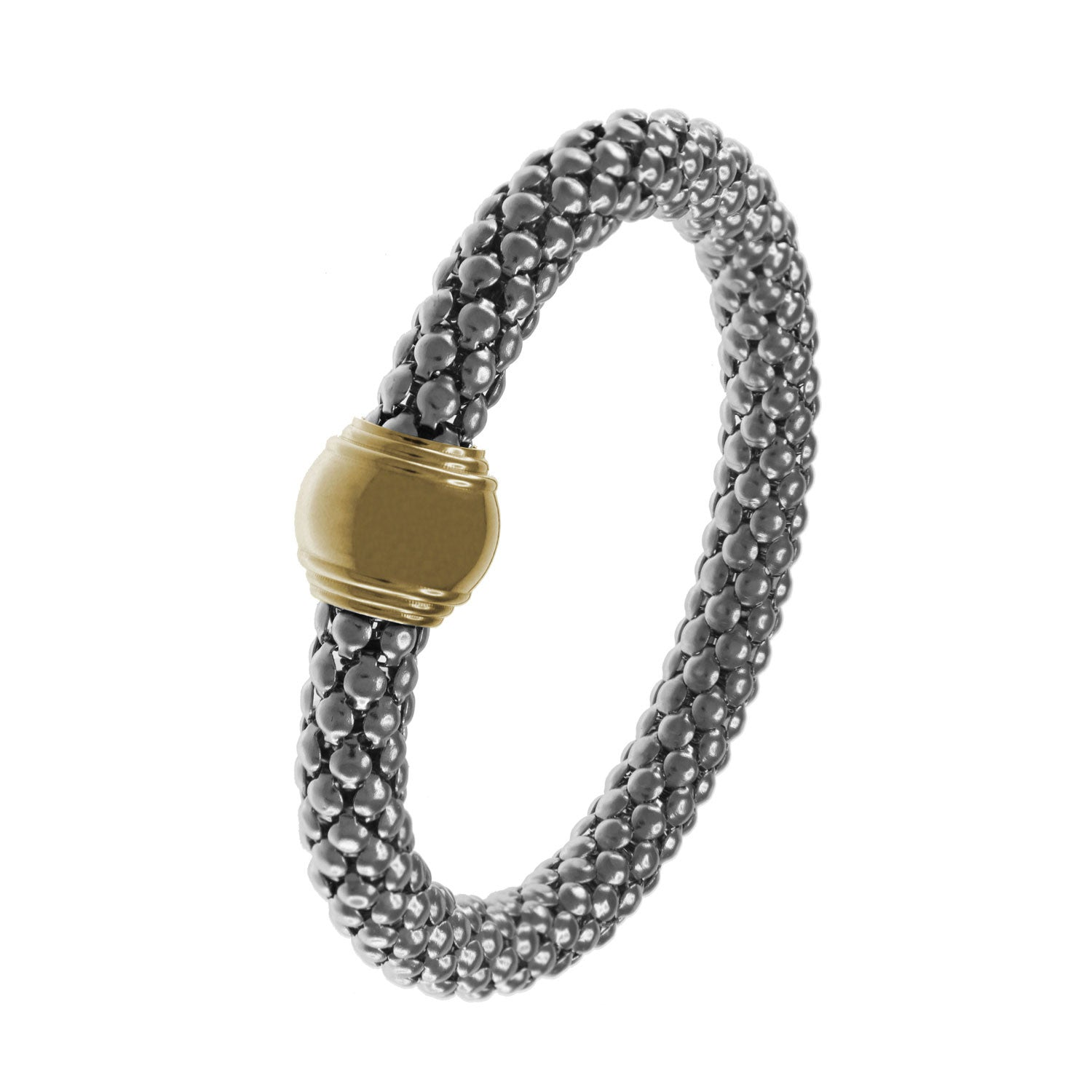 """Metropolis"" Two-Tone Stretch Mesh Bracelet More Colors"