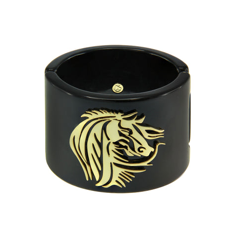 """Animal Instinct"" Horse Resin Cuff Bracelet"