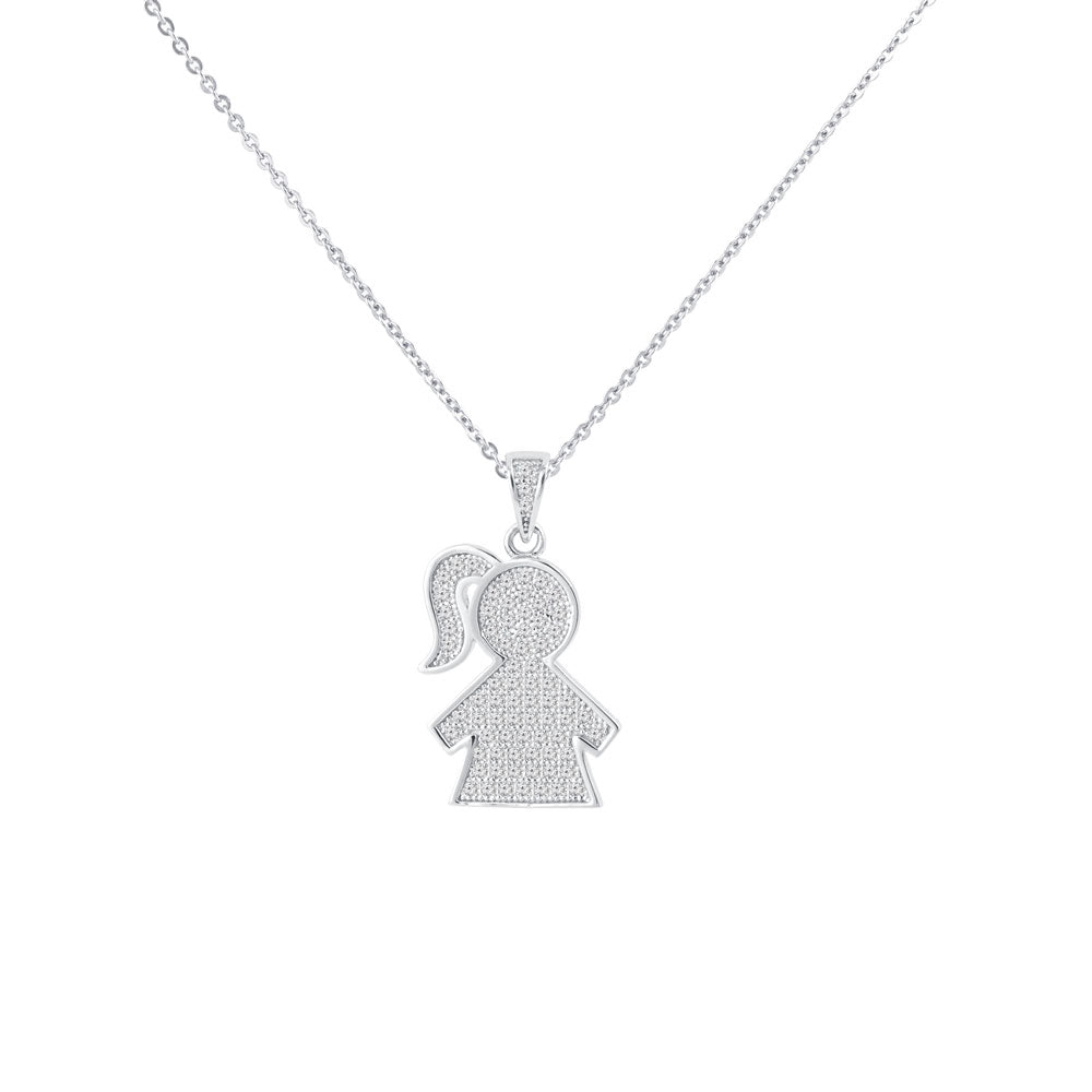 My Girl Prong-set CZ's  Sterling Silver Pendant Necklace