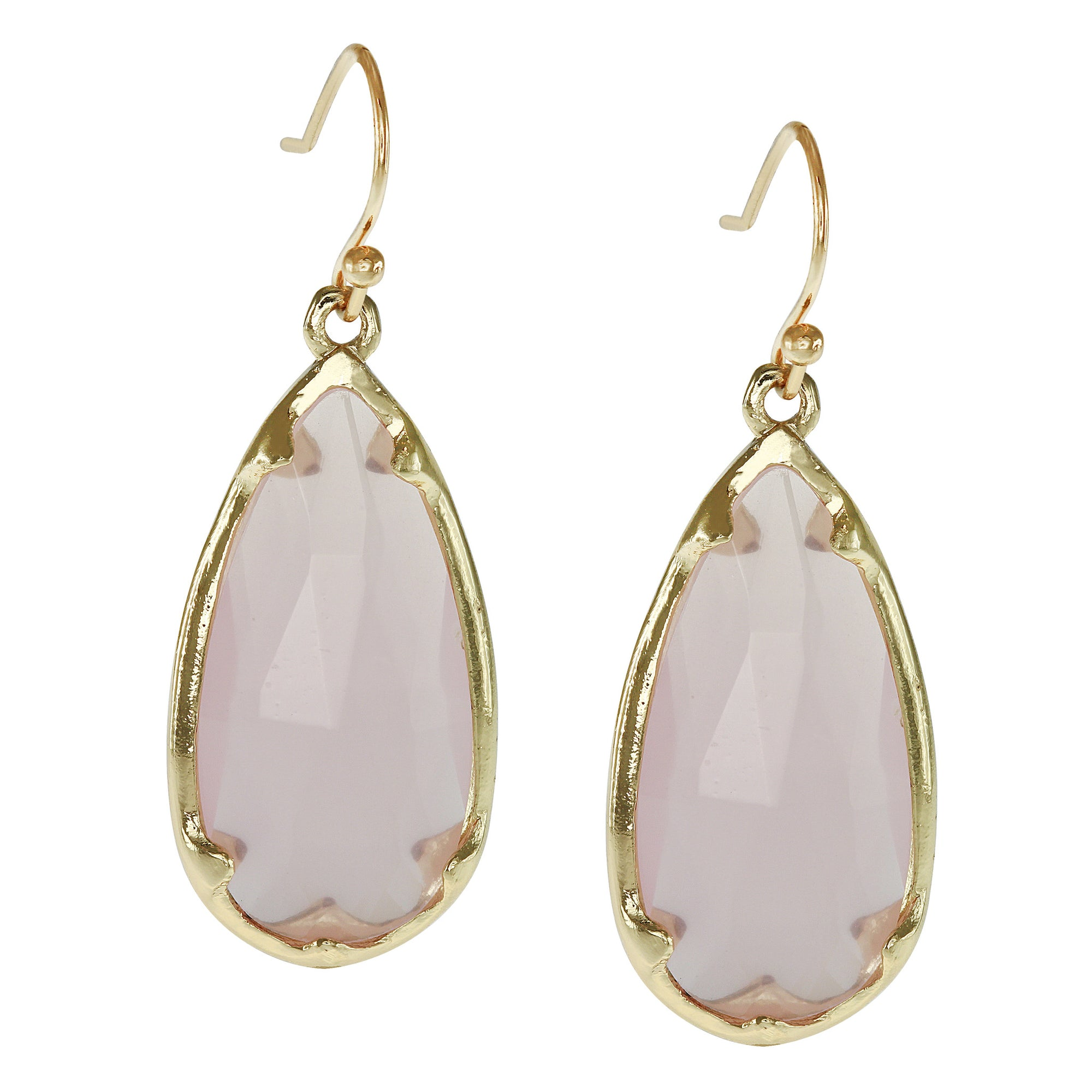 Drop Cabochon Crystal Earrings More Colors