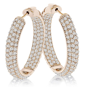 """The Midi"" Pave Crystal Inside-outside Hoop Earrings"