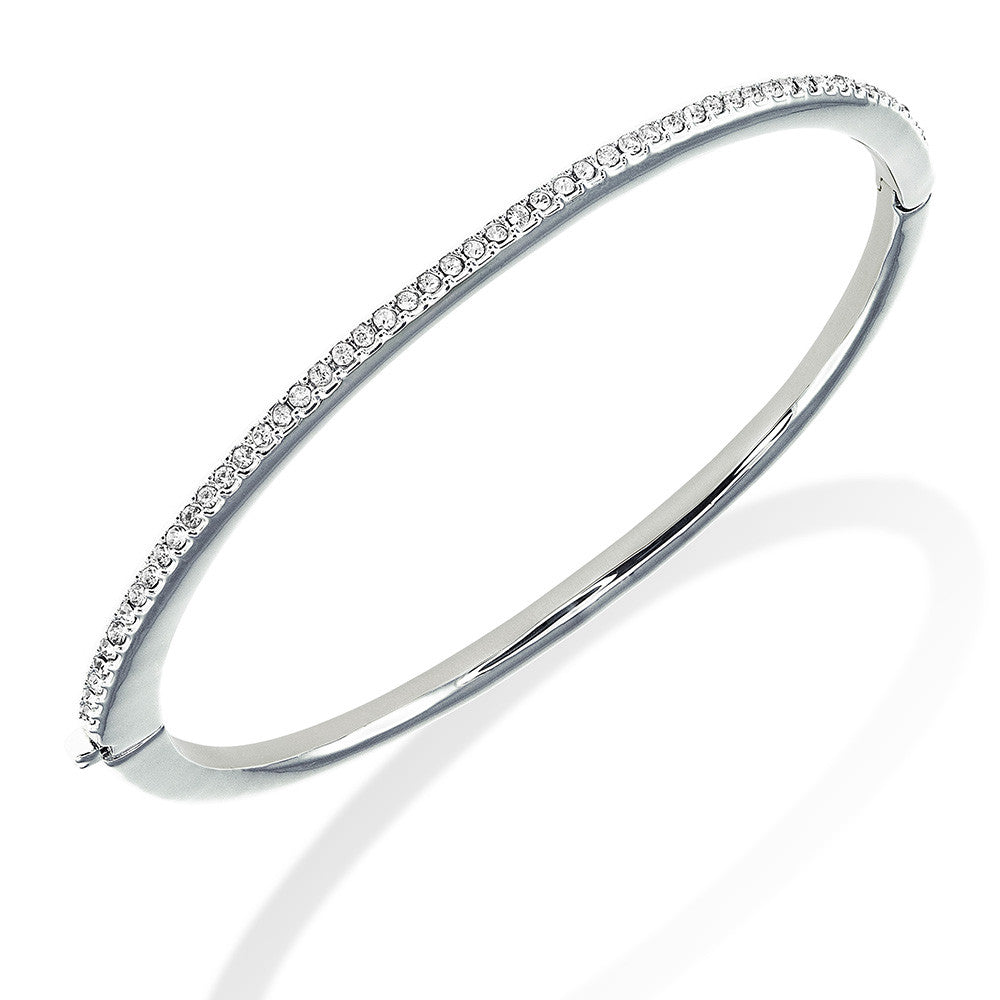 tw silver bangle cubic white bracelets p plated with bracelet in ct zirconia and bangles gold sterling