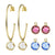 """Four Ways to Charm"" Rhodium Plated Charm Set"
