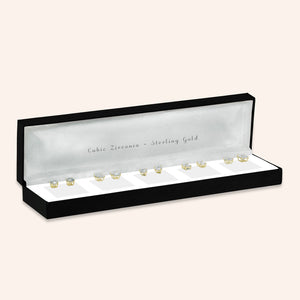 """Five Ways to Shine"" Set of 5 18K Gold Plated Sterling Silver Posts"