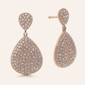 """Cate"" Pave Crystals Pear-Shaped Drop Earrings"