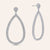 """Helen"" Pave Crystals Open Pear-Shaped Drop Earrings"