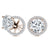 """Rachel""  8.5ct Round Cut Halo Stud Earrings and Jackets"