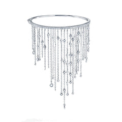 """DIAMOND PASSAGE "" STERLING SILVER CUBIC ZIRCONIAS DROPS BANGLE"