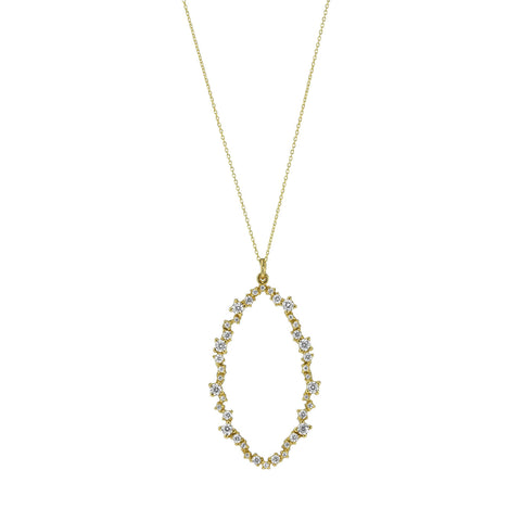 """Bubbles"" Statement Link Necklace / Gold Tone"