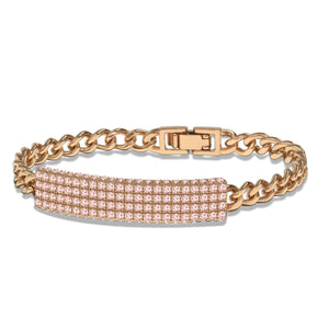 """Legacy Delight"" 4.9 ctw Pave ID Curb Link Bracelet More Colors"