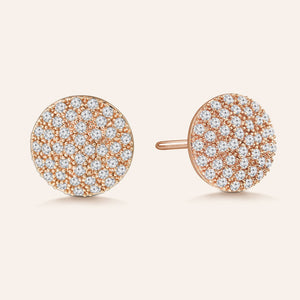 """Perfect Touch"" 1.2ctw Pave Circle Stud Earrings"