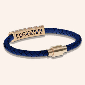 """Icon Forever"" Woven Genuine Leather Bracelet"