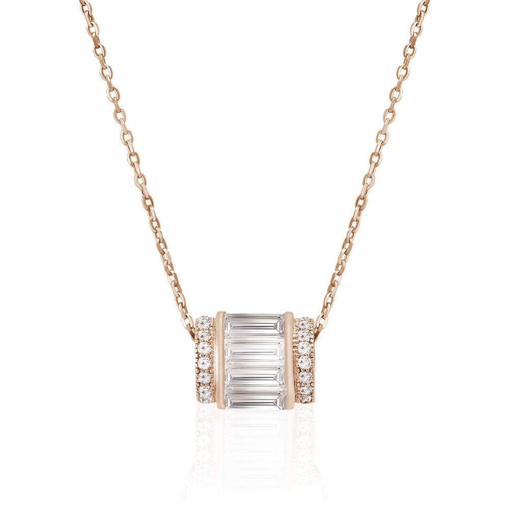 silver delicate baguette micro necklace dsf products barrel jewels pave collections