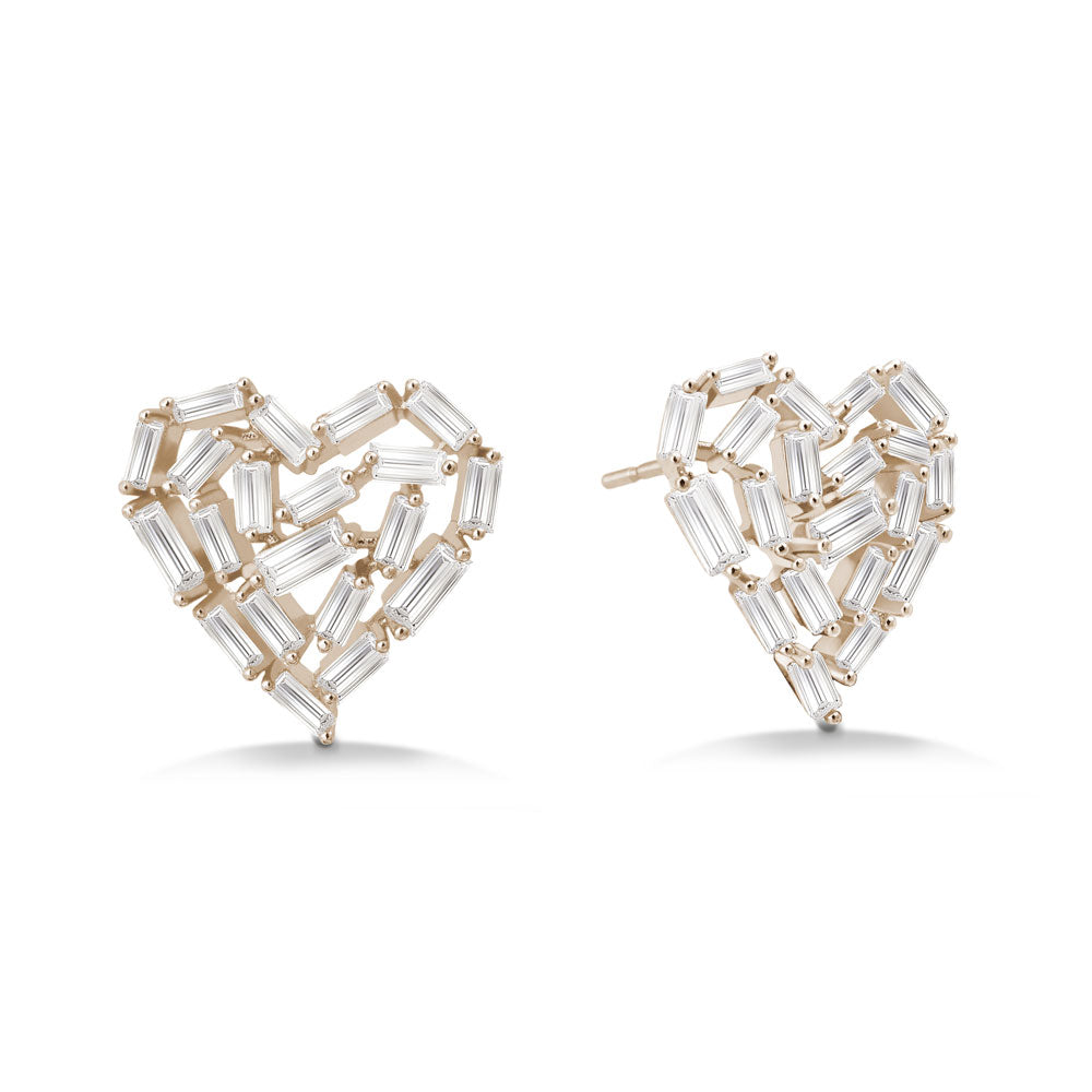 """Take my Heart Away"" 4.9CTW Baguette Cluster Post Earrings"
