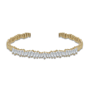 """Swing to Dazzle"" 5.2CTW Baguette Adjustable Cuff"