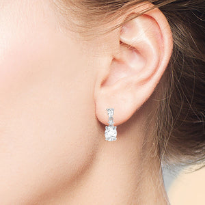 """It's Princess Day"" 3.5CTW Pear Round & Oval Trio Drop Earrings"