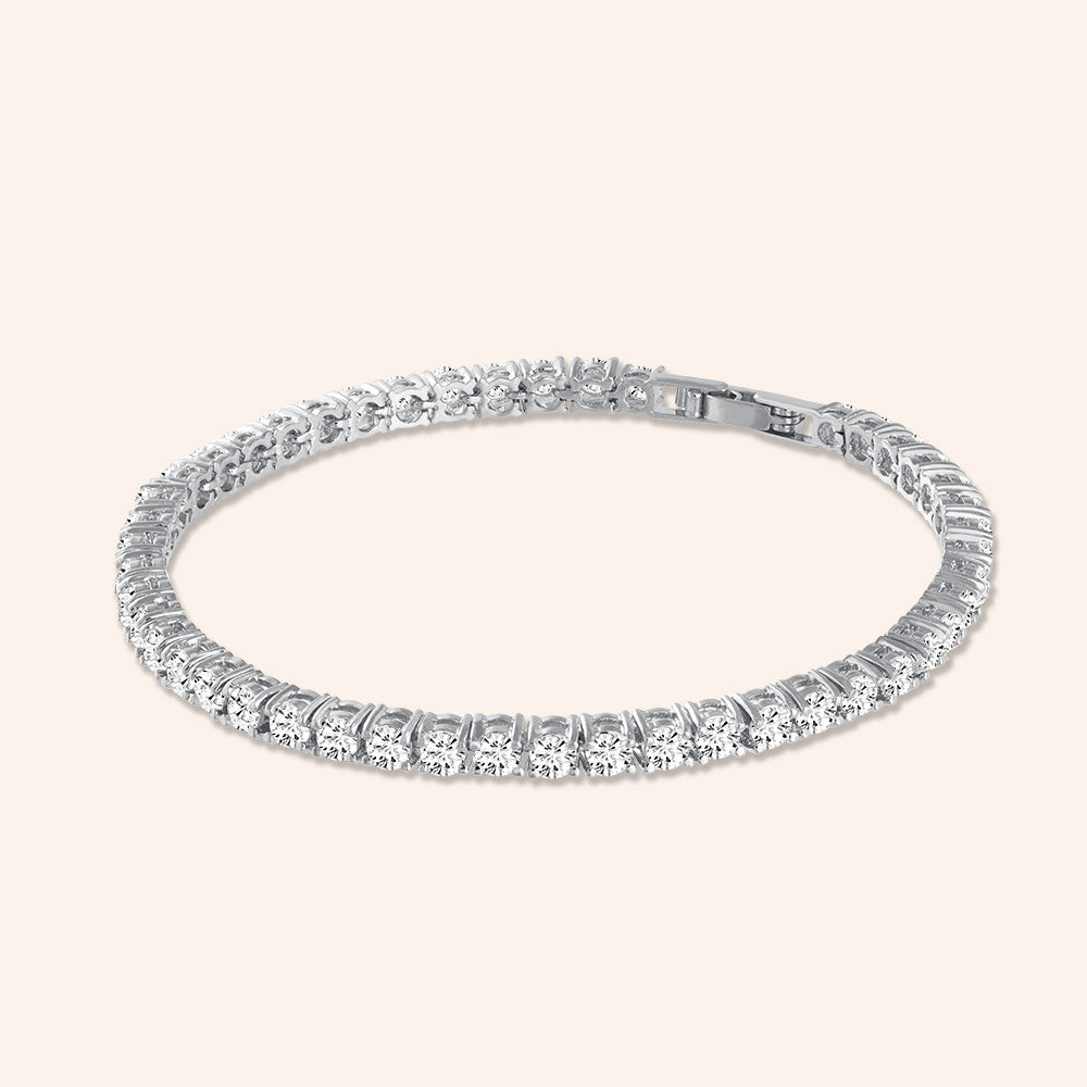"""Truly Yours"" 6.5CTW Round Cut Tennis Bracelet - Includes Extender"