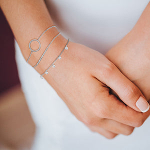 """Always with Me"" 0.5CTW Pave Dainty ID Bracelet"