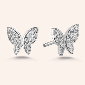 """Princess Legacy"" 2.6CTW Pave Butterfly Design Post Earrings"