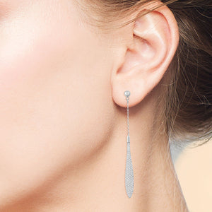 """Naomi"" 1.6CTW Micro-Pave Linear Drop Earrings"