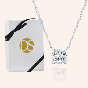 """Signature Shine"" 5.2CTW  Princess Cut Solitaire Pendant Necklace"