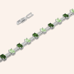 """Grand Opening"" 7.5CTW Quartz Oval Cut Tennis Bracelet - Includes Extender"