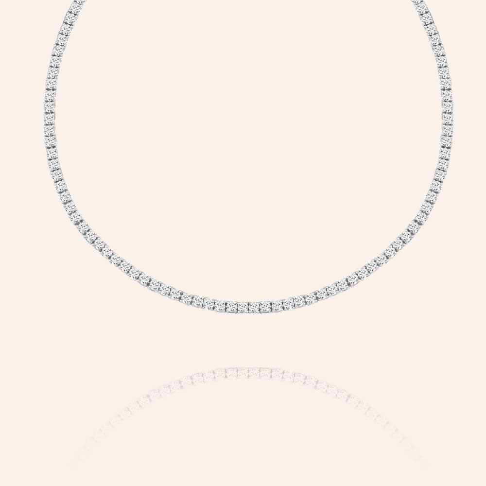 """Dancing Queen"" 11.6CTW Round Cut Tennis Adjustable Choker Necklace"
