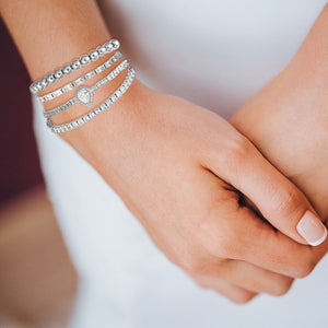 """That Sparkle"" 6CTW Baguette Cut Tennis Pull-Tie Bracelet"