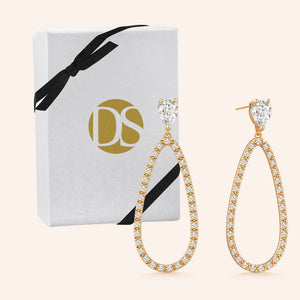 """Main Attraction"" 3.5CTW Pear Cut Drop Earrings"